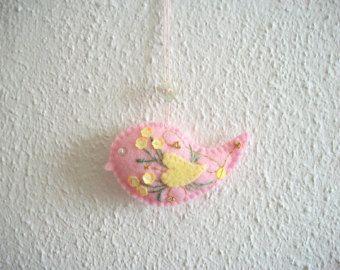 bird felt ornament