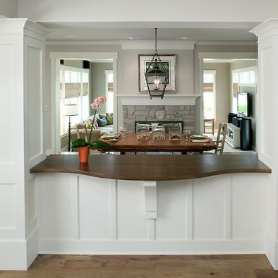 The shape pictures and bar on pinterest for Kitchen pass through