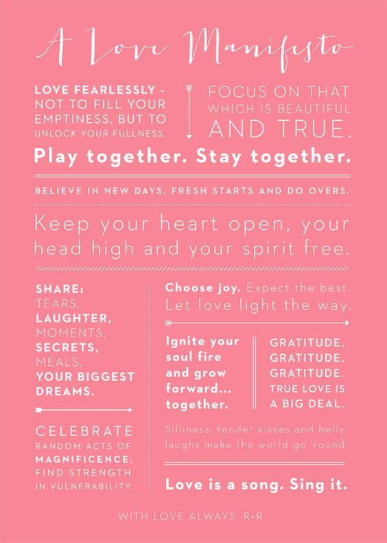 A Love Manifesto