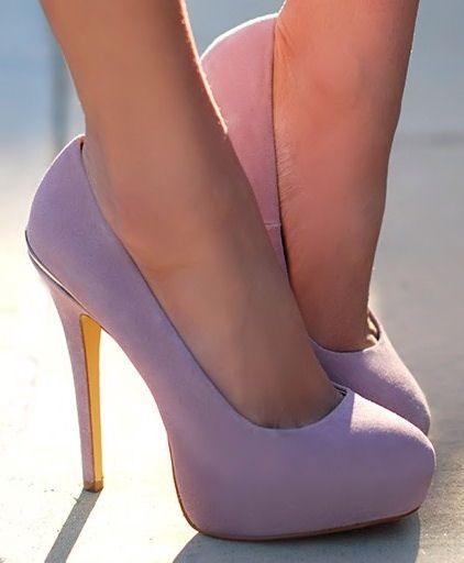 Lavender Pumps - Such a stunning colour