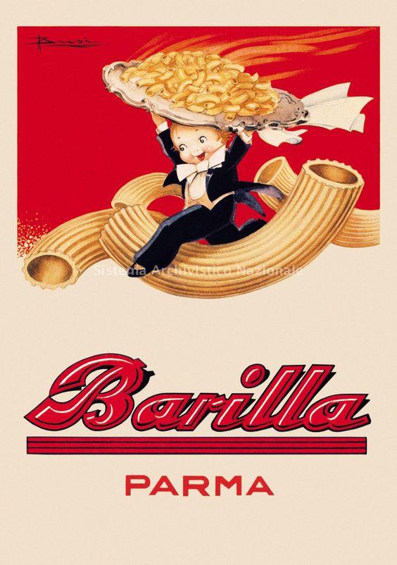 Barilla publicit s pinterest calendrier affiche et for Affiche cuisine retro