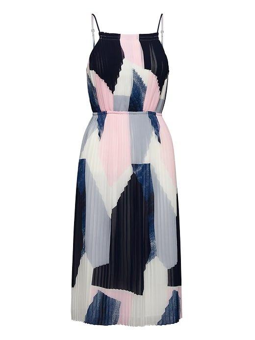 Banana Republic Women/'s Navy Pleated Bow Dress Size 0