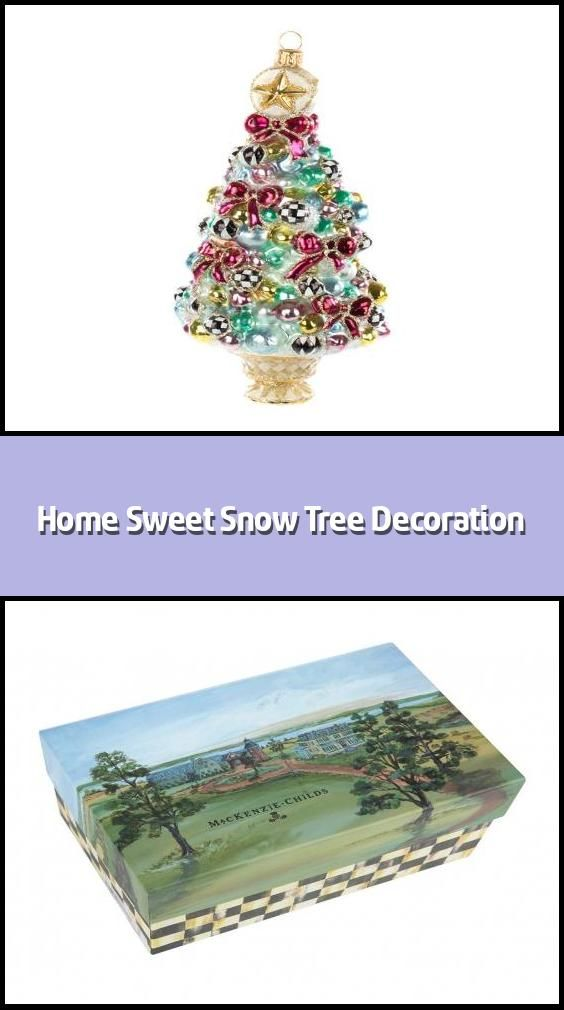 Home Sweet Snow Tree Decoration Christmas Tree Ornament Material Glass Dimensions H16 5x11 4cm Handc In 2020 Snow Tree Tree Decorations Christmas Tree Decorations