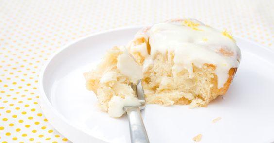 eat make read sticky lemon rolls with lemon cream cheese glaze