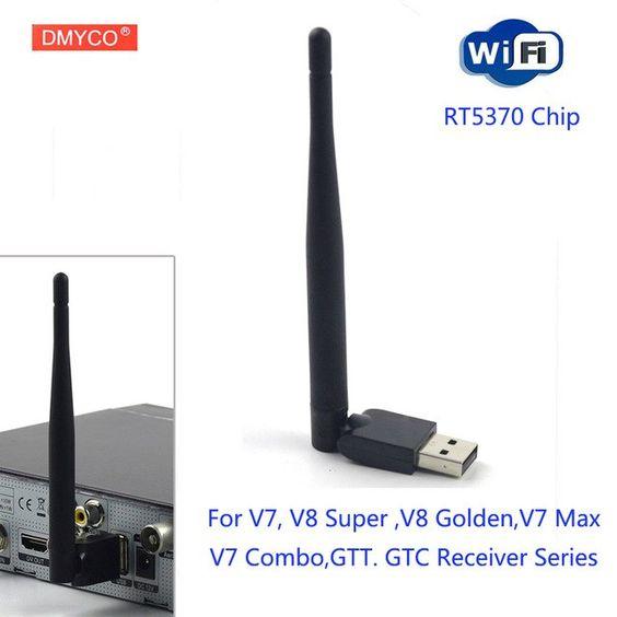 Rt5370 Wifi For Satellite Receiver Dvb S2 Usb Adapter Antenna 150m Receiver Wireless 802 11n G B Lan For V7 V7s V8 Super V8 No Satellite Receiver Wifi Receiver