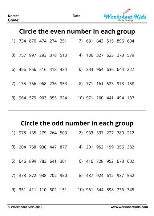 Odd And Even Numbers Worksheet Grade 4 In 2020 Kids Math Worksheets 2nd Grade Math Worksheets 1st Grade Math Worksheets