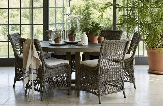 Hudson Dining Table And Harrington Chairs Outdoor Furniture Sets Outdoor Dining Set Garden Room