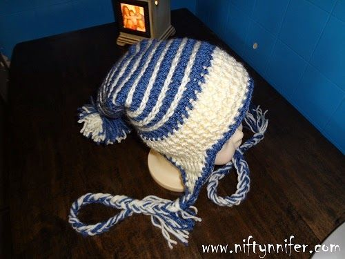 Free Crochet Pattern ~ Baby Ice Spiral Hat http://www.niftynnifer.com/2014/08/free-crochet-pattern-baby-ice-spiral-hat.html #Crochet #Crochetbaby #Crochethat