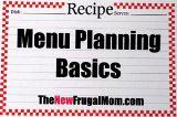 Blank calendar for menu planning link.