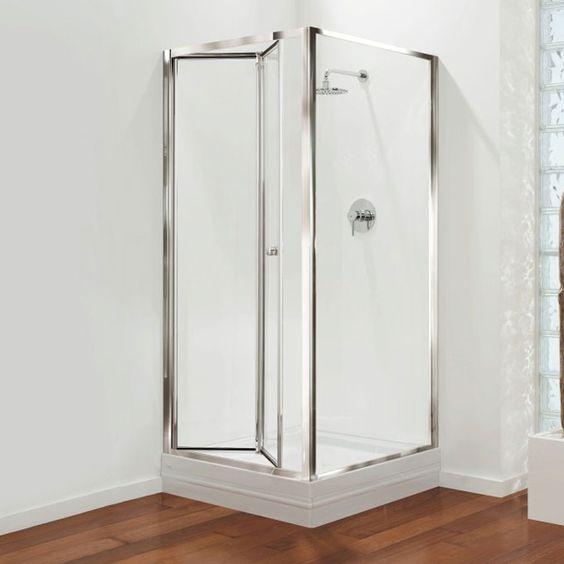Bi Fold Glass Shower Doors Bathroom Design Ideas