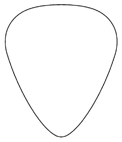 guitar cut out template - download vector about guitar pick template item 3 vector