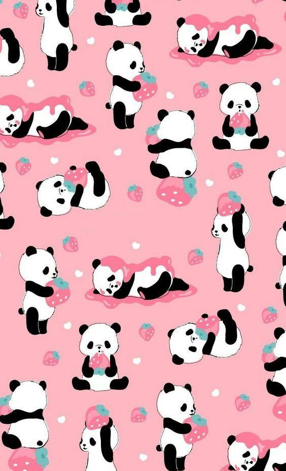 Cute Wallpaper Of Pink In 2020 Cute Panda Wallpaper Panda Wallpapers Cute Cartoon Wallpapers