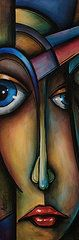 Cubism Art - Hers  by Michael Lang