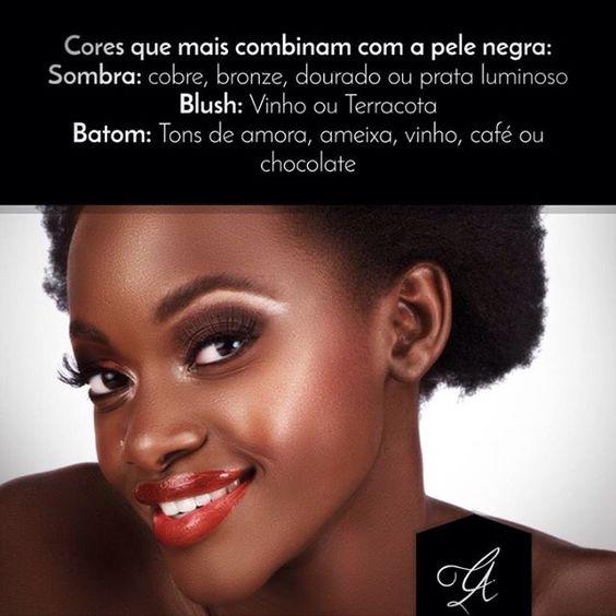 Quer saber quais cores mais combinam com a pele negra? Que tal uma dica? #make #makeup #cleberazevedo #pelenegra #dicademaquiagem