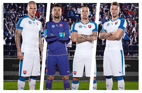 Ceci est le nouveau Maillots de football Euro 2016 de Équipe de Slovaquie de football.: