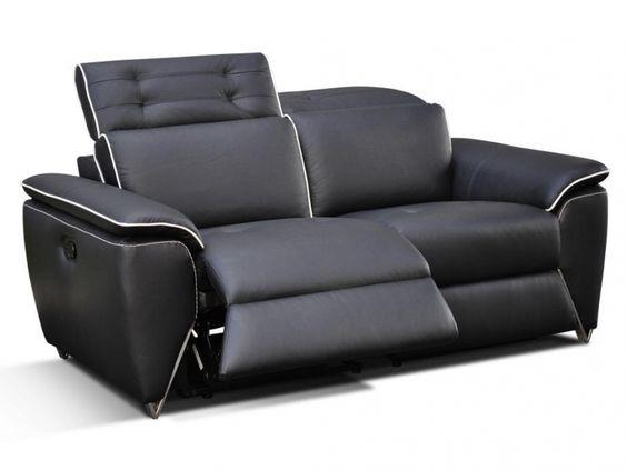 Simple Relaxsofas Sitzer Leder Cardinal Schwarz g nstig kaufen M bel Online Shop Kauf