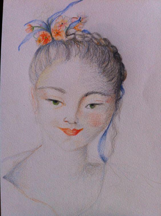 Petite Marquise (c)AP2013 crayon de couleur