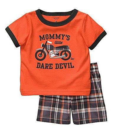 Carter´s Newborn Mommy´s Little Dare Devil Tee & Shorts Set | Dillards.com
