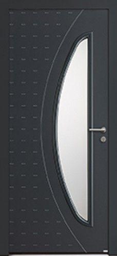 Mod le ga a porte d 39 entr e aluminium contemporaine mi for Porte de garage bel m