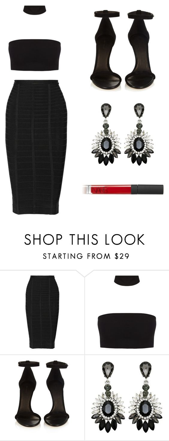 """Untitled #331"" by deborasilva02 ❤ liked on Polyvore featuring Hervé Léger, Isabel Marant and NARS Cosmetics"