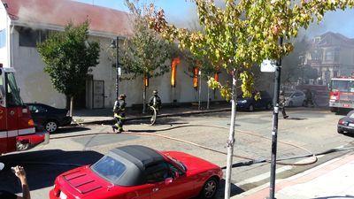 Fireman battle 3-alarm fire at West Oakland church