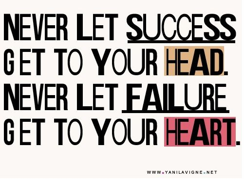 Failure // success quote