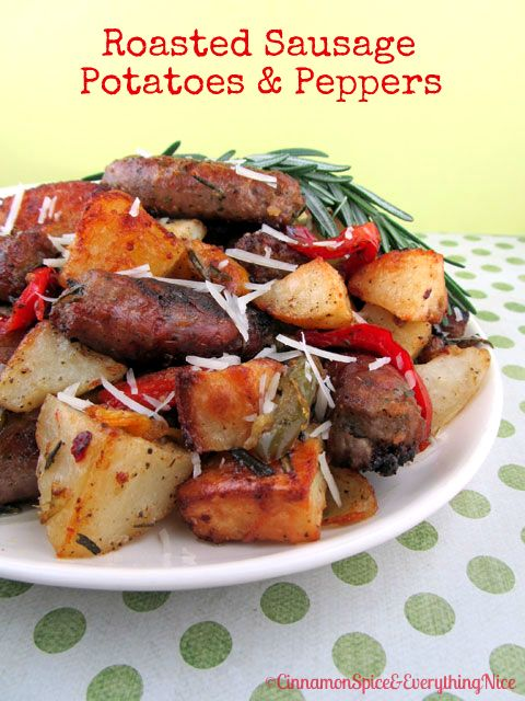 Roasted Sausage, Potatoes & Peppers