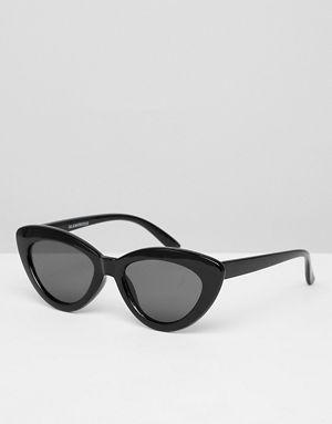 Glamorous - Lunettes de soleil yeux de chat à bords pointus - Noir