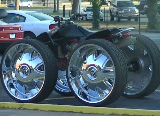 13 Crazy Rides With Ridiculously Large Rims 4 Wheeler Custom