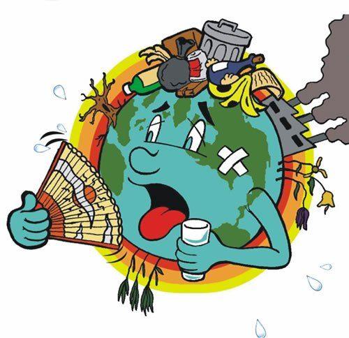 Planeta Terra Doente Desenhos Do Meio Ambiente Poluicao Do Meio