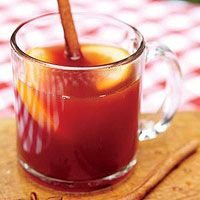 Perfect winter warmer - warm spiced pomegranate orange drink
