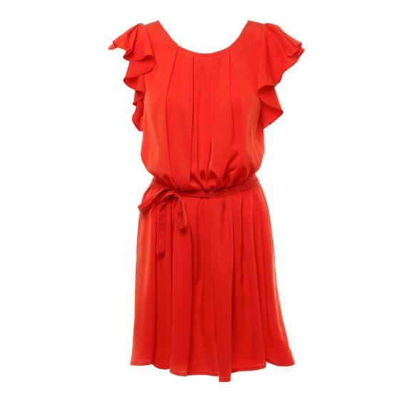 Cecile dress in orange: Summer Dress, Flutter Sleeve, Color Shorts, Credit Card, Beautiful Color, Color Ditto, Summer Colors
