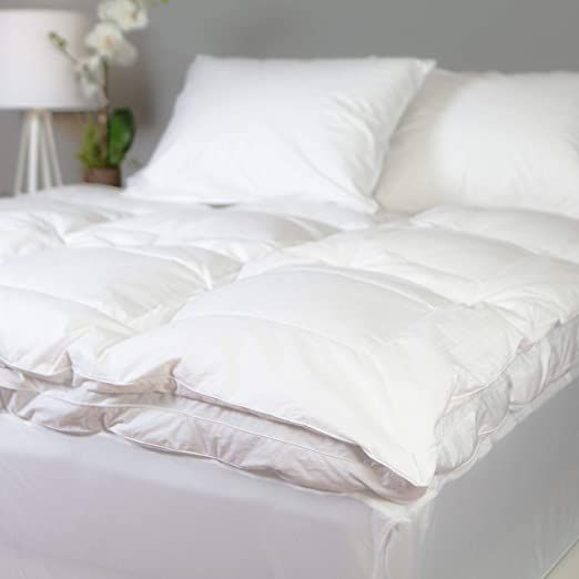 Allied Essentials Luxe 100 Cotton White Down And Goose Featherbed
