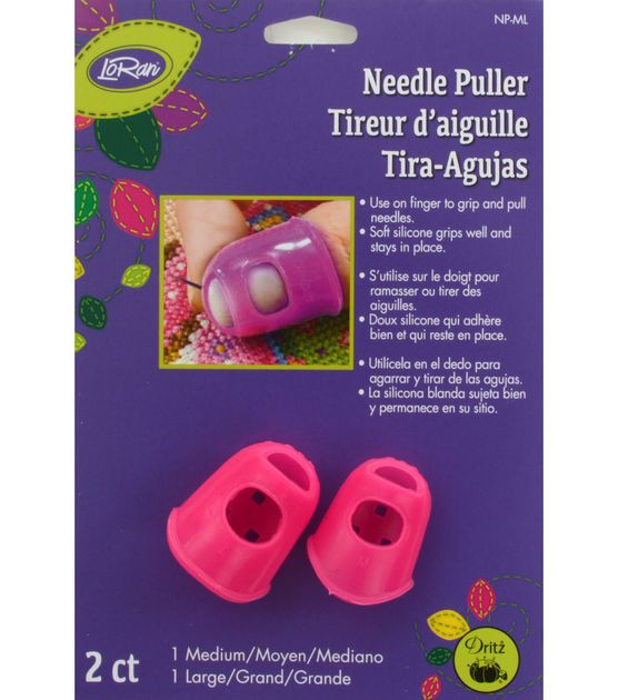 LoRan Stay-On Needle Puller 2/Pkg-Medium/Large