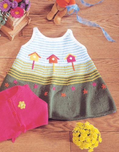 Revista bebé 1 Primavera / Verano   32: Bebé Vestido   Blanco / Naranja…
