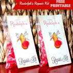 Rudolph's Repair Kit Free Printable Favor/Gift Tag