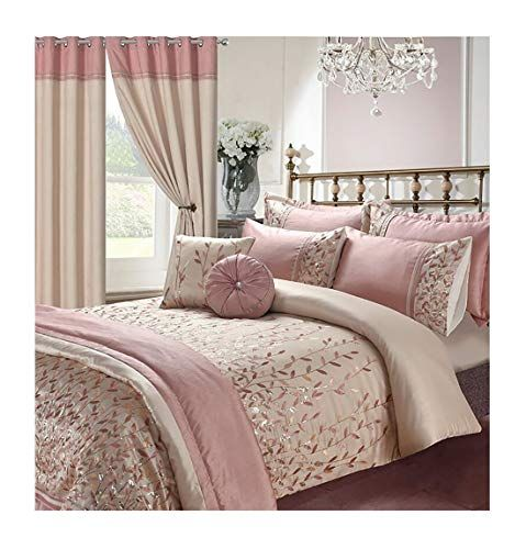 Rimi Hanger Luxury Elena Marie Embroidery Duvet Pillow Set Matching Curtains Throws Cushions Duvet Covers Marie Bedroom Collection Throw Cushions Duvet Covers