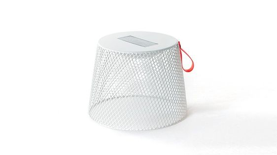 Emu Ivy Pouf in white. These would make good pool lounger tables and double as stools.