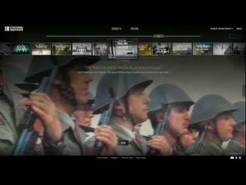 Celebração da queda da Cortina de Ferro; exposição criada pelo Instituto Cultural do Google.