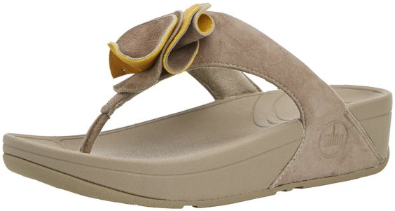 FitFlop Womens Yoko? Mink/Yellow Pear Sandal 10 M (B).