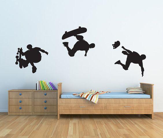Vinyl Wall Sticker Decal Art  Skateboard by urbanwalls on Etsy, $37.00