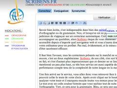 Scribens : correcteur orthographique et grammatical en ligne qui permet de comprendre ses erreurs