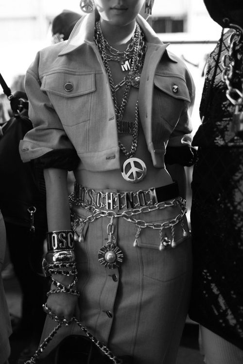 Backstage at Moschino Fall 2014 RTW