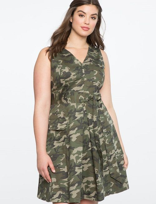 Camouflage Outfit Ideas for Women in 2019 | Camo dress, Plus ...
