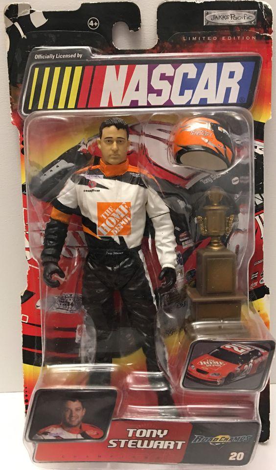 (TAS032908) - Jakks Pacific Nascar Road Champs Action Figure - Tony Stewart #20