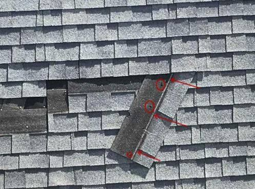 The White Lines And Where The Arrows Are Pointing To Is The Nail Line And Where The Shingles Are Supposed To Be Nailed The C Roof Renovation Roofing Shingling