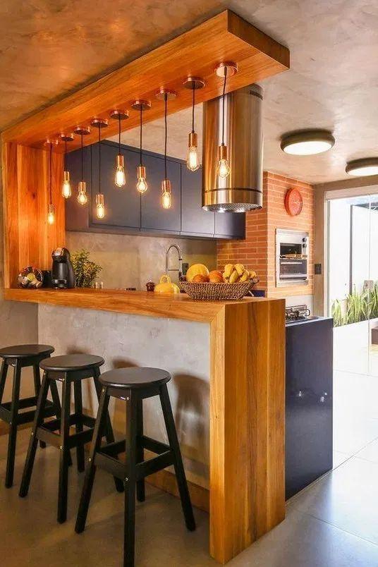 Idee Per La Casa Originali.Una Penisola Cucina Da Far Invidia 15 Idee Rustiche Molto