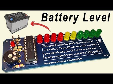 Led Battery Level Indicator With Lm3914 Pcb Tutorial Youtube In 2020 Electronics Projects Diy Electronics Projects Simple Arduino Projects