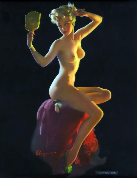 "Gil Elvgren - ""Perfection"" - 1940's:"