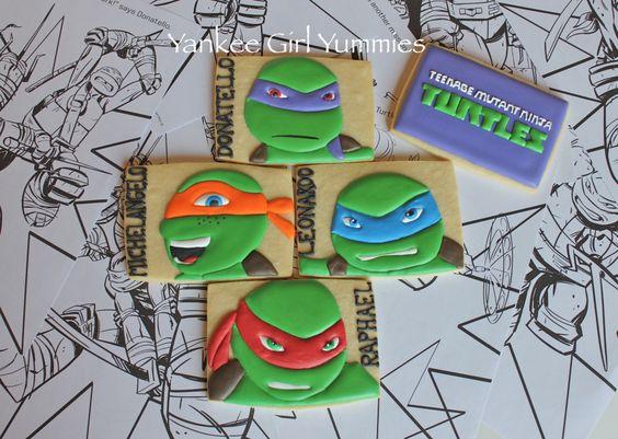 Teenage Mutant Ninja Turtle cookies by yankeegirlyummies